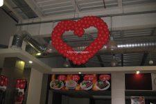 Kalp Şeklinde Balon Süsleme