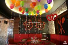 Helyum Gazlı Uçan Balon Süsleme