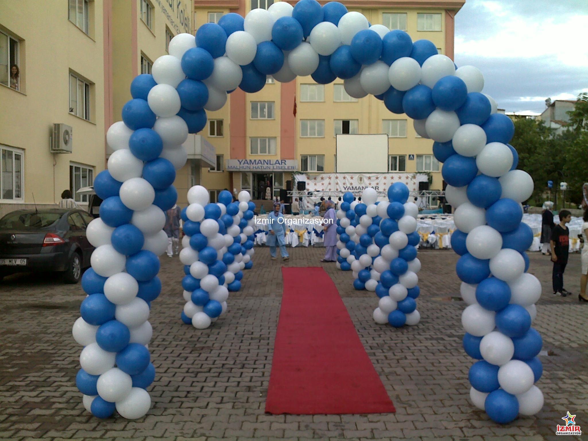 Yürüyüş Yolu Balon Süsleme